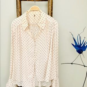 Free People Long Sleeve Polka Dot Shirt***SOLD****